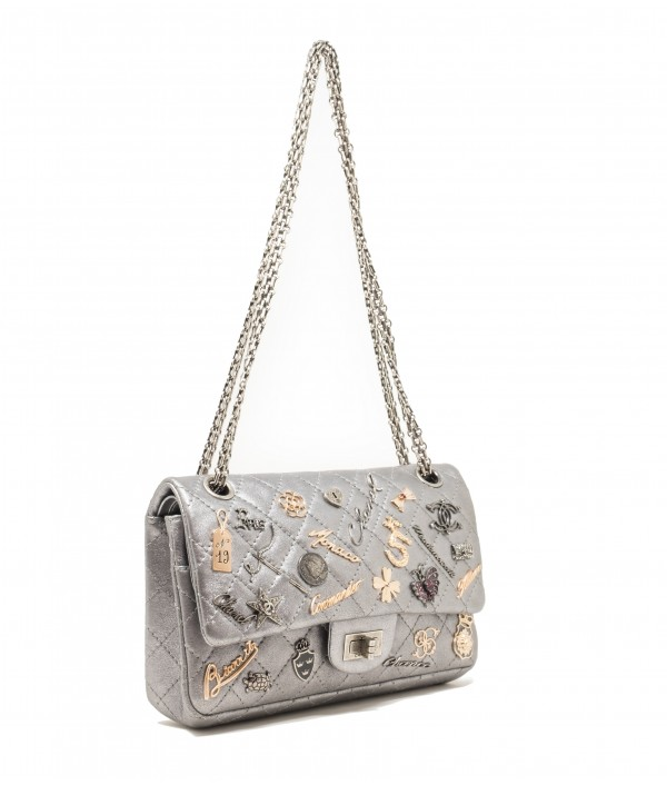 "CHANEL 2.55 ""LUCKY CHARMS"" ARGENTO"